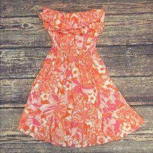 EUC Sz S Lilly Pulitzer Quincy Dress Tango Orange
